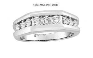 1.00 Ctw Round Diamonds Men's Ring with closed back