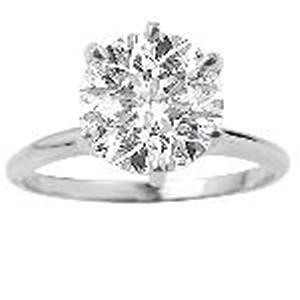 2.00 c.t.w Diamond Solitaire.The secret to true beauty is simplicity. The sleek, clean lines of this classic solitaire engagement ring will always be in style. A stunningly clear 2.00 carat diamond sparkles in a 6-prong setting of rich 14 karat white gold.