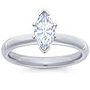1/4 Carat Marquise Diamond Solitaire                          -                                       - A single 1/4 (ctw) carat Marquie sparkles eminently from a glowing 14 karat white gold shank in this diamond solitaire engagement ring your soon-to-be wife will cherish forever. Also available in yellow gold.