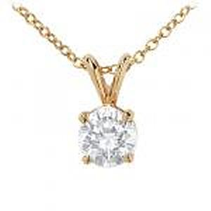 1/3  Carat Diamond Solitaire Pendant. Includes 18