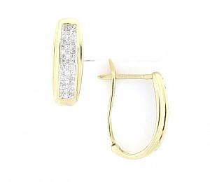 1/2 Carat Total Weight Invisible Set Princess Cut Diamond Earrings
