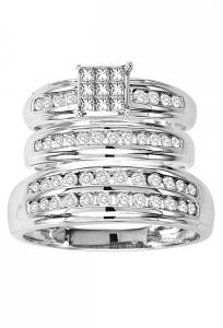 14K White Gold 1 CTW