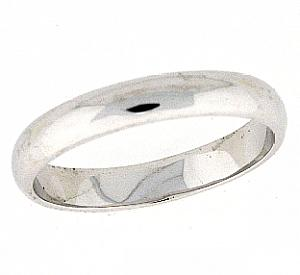 4 MM Steriling Silver High Polished Band