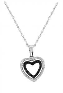 Silver 1/5 Ct.tw. Diamond Heart Pendant