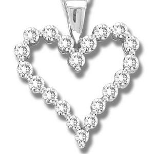 A charming bunch of round diamonds makes this diamond heart pendant very special. Beam with love every day with 0.25 carat of diamonds delicately set in radiant 14 karat white gold.Includes 18