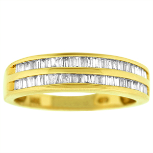 0.50 c.t.w Baguette Diamond Band in 14 Karat Yellow Gold