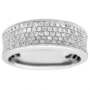 0.50 c.t.w Diamond Fashion Band in a 14 Karat White Gold.