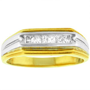0.25 c.t.w Diamond Men's Band in 14 Karat Yellow gold