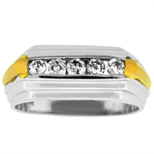 0.52 c.t.w Diamond Men's Band in 14 Karat White Gold