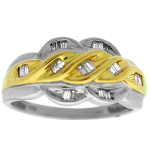 0.25c.t.w Diamond Fashion Ring in 10 Karat Two Tone Gold