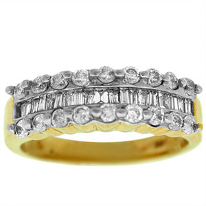 1.00 Diamond Fashion Band in 14 Karat Yellow Gold