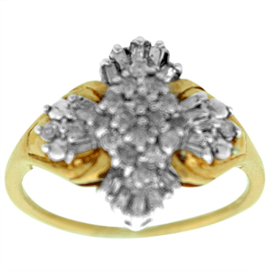 1/4 Carat Total Weight Diamond Cluster Ring