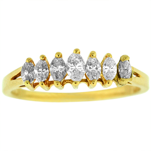 1/2 Carat Total Weight Marquise Band