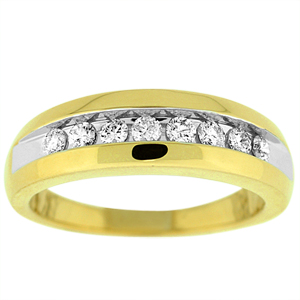 1/2 Carat Total Weight Gents Wedding Band