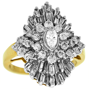 1 Carat Total Weight Diamond Cluster Ring