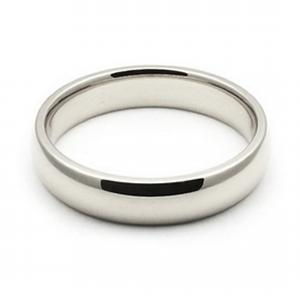 4mm Band Mens Plain Wedding Band -      Give him a token of your love with this ravishing and classic 14 karat white gold wedding band that is sure to melt his heart.