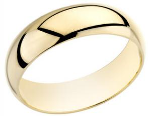 5mm Mens Wedding Band  -               Give him a token of your love with this ethereal 14 karat yellow gold wedding band that is sure to melt his heart.