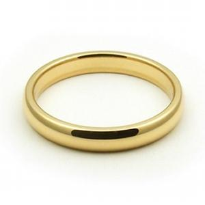3mm Womens Wedding Band  ---   Simple and elegant, never underestimate the beauty of sheer 10 karat yellow gold. A beautiful piece sure to fit your beautiful partner.
