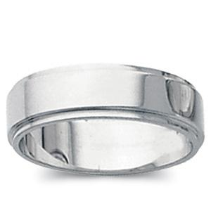 6 MM Flat Edge Wedding Band