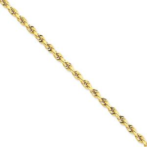 3.8mm Rope Bracelet             -                         Enjoy flaunting this enticing 10 karat yellow gold rope chain bracelet that exudes as much glamour as it does sophisticated simplicity