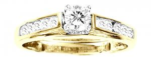 14KT Yellow Gold 1/2ct.tw. Diamond Engagement Ring. For the unforgettable moments in your life, celebrate with an expression of your love: a 1/2 ct. t.w.  Diamond engagement ring with round diamonds.