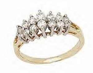 1 Carat Total weight Diamond band -               A Beautiful piece stud in a 1CTW diamonds in glittering 14 KT yellow gold , you are sure to impress her with this one of a kind ring.