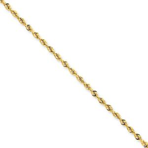 2.8mm Rope Bracelet  -           Revel in flaunting this enticing 10 karat yellow gold rope chain bracelet that exudes as much glamour as it does sophisticated simplicity. A real winner.