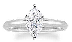 1/3 Carat Marquise Diamond Solitaire                                    -                                              This engagement ring in 14K gold features a 1/3 ct. marquise diamond solitaire in a 6-prong white gold setting.