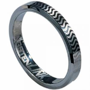Tungsten Carbide Ring-Sleek and unique this mens This men's tungsten wedding band features a stylish design that combines both a polished finish and a satin heavy finish for textured contrast. The width  of the ring is 2.0 mm