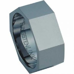 Tungsten Carbide Nut Ring -share this magnificent 9.0mm men's ring with him. Made completely of tungsten carbide, the ring is beyond durable and lustrous with a polished finish. The inside of the band's shank is rounded for comfort. Tungsten carbide is a true innovation in jewelry. Tungsten is virtually impossible to scratch and is much heavier and denser than gold.