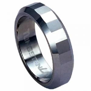 Diamond-cut Tungsten Carbide Ring-Your love together survives life's trials and demands to reign victorious each time. Let him know how much you cherish him with a band symbolizing forever love. This 6.5mm tungsten  carbide is a true innovation in jewelry. Tungsten is virtually impossible to scratch and is much heavier and denser than gold are created from high-performance metals that are durable, comfortable and fashionable.