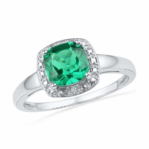1.75CT LAB CREATED EMERALD RING