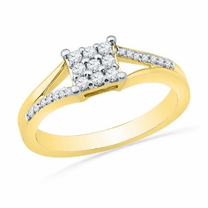 1/4 ctw Diamond Fashion Ring in 10 Karat Yellow Gold.
