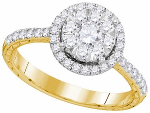 0.84 ctw Diamond Fashion Ring in 10 Karat Yellow Gold.