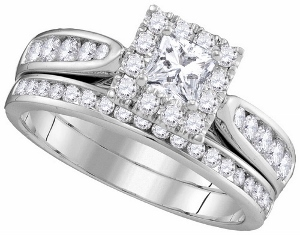 1.01CTW DIAMOND 0.33CTW CPR BRIDAL SET