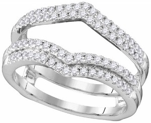 0.50 c.t.w Diamond Ring Wrap 14 Karat White Gold