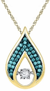 0.20CTW BLUE DIAMOND FASHION PENDANT