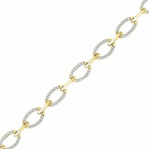 0.75 c.t.w Diamond Fashion Bracelet in 10 Karat Yellow Gold