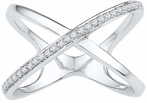 1/6 ctw Diamond Fashion Ring in 10 Karat White Gold.This standout design is crafted with fine diamonds and 10-karat gold. A piece you can love forever.