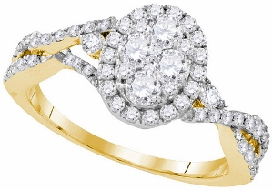 1 ctw Diamond Fashion Ring in 10 Karat Yellow Gold