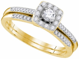 0.32 ctw Diamond Fashion Bridal Ring in 10 Karat Yellow Gold-- Go ahead ask her