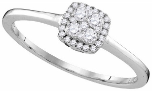 0.21 ctw Diamond Fashion Ring in 10 Karat White Gold.