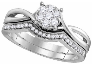 0.34 ctw Diamond Fashion Ring in 10 Karat White Gold.
