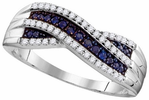 0.24 ctw Blue Sapphire Diamond Fashion Band