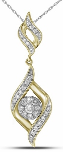 0.33c.t.w Diamond Fashion Pendant in 14 Karat Yellow Gold.