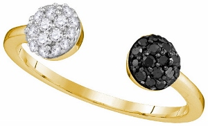 0.33 ctw Black Diamond Fashion Ring