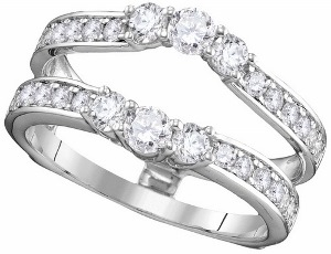1 c.t.w Diamond Enhancer is 14 Karat White Gold