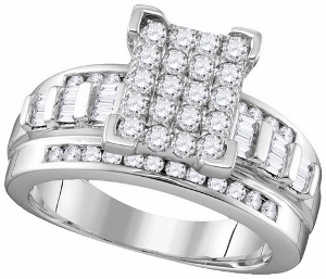2 ctw Diamond Fashion Engagement Ring in 10 Karat White Gold