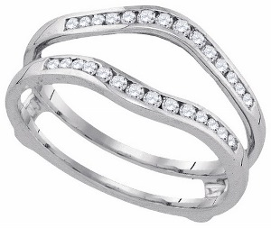 1.00 c.t.w Diamond Enhancer in 14 Karat White Gold