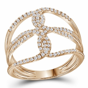 1/4 c.t.w Diamond Rose Gold Fashion Band